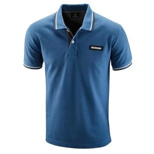 Scania Men's blue classic polo