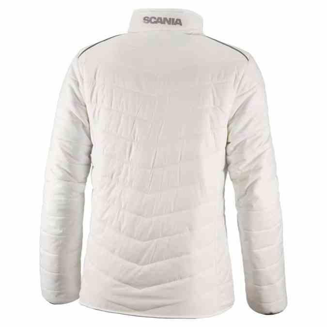 Scania ladies white insulation jacket back