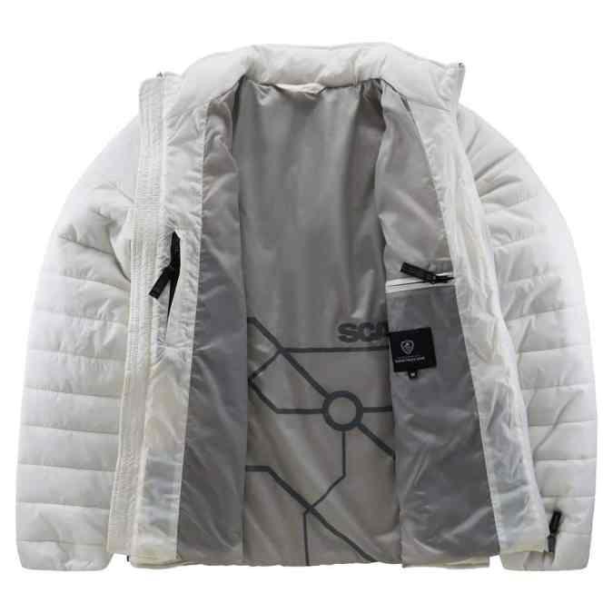 Scania ladies white insulation jacket inside