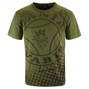 Scania mens green vabis tshirt