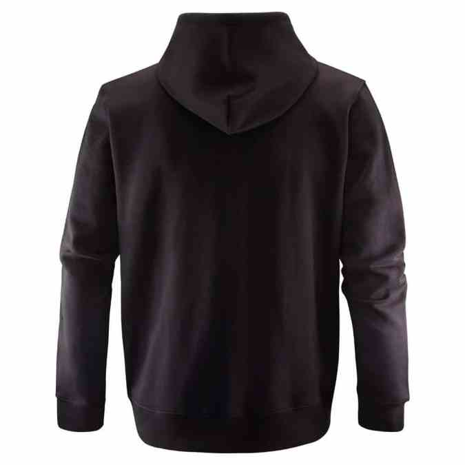 Scania mens black cropped griffin zip hoodie back
