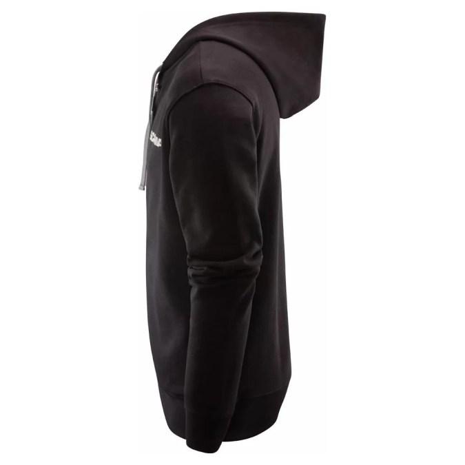 Scania mens black cropped griffin zip hoodie side
