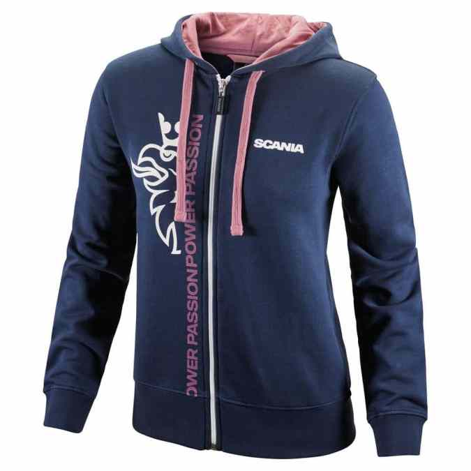 womens navy cropped griffin zip hoodie
