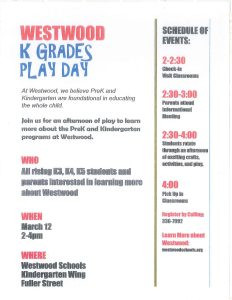 Play Day March 12