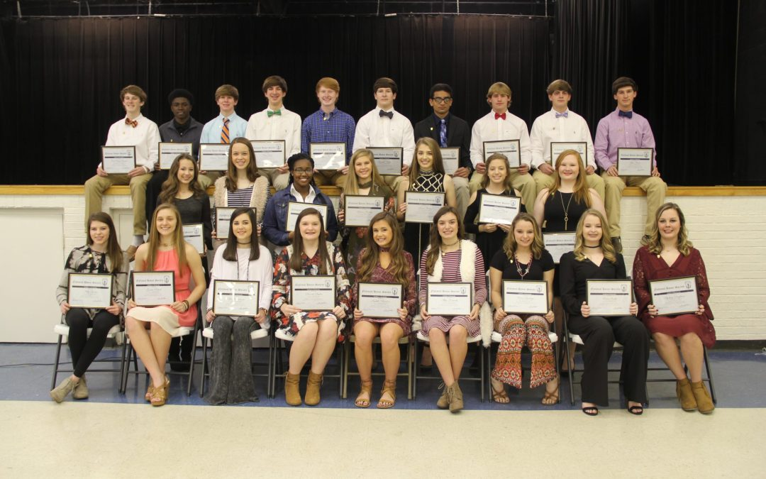 National Honor Society Initiates 26 New Members