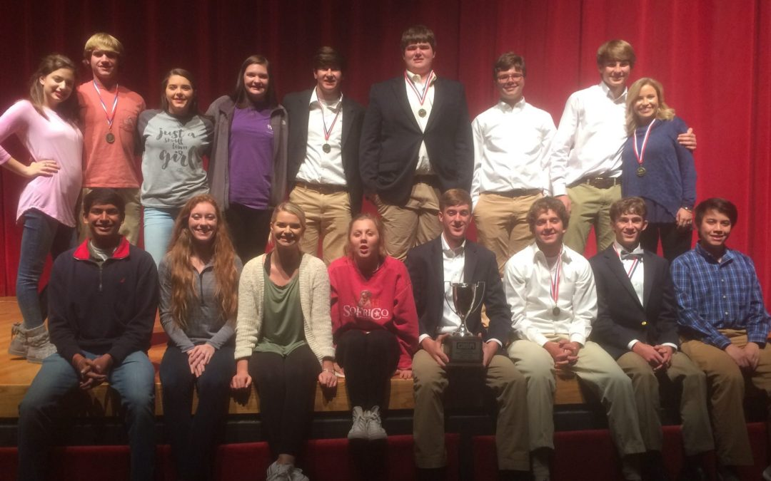Westwood Literary Team 3AA Region Champions and State Runner-Up