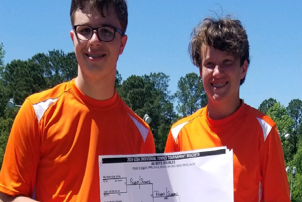 Phen Rubendall & Brooks Tucker are Class AA Tennis Doubles State Champions