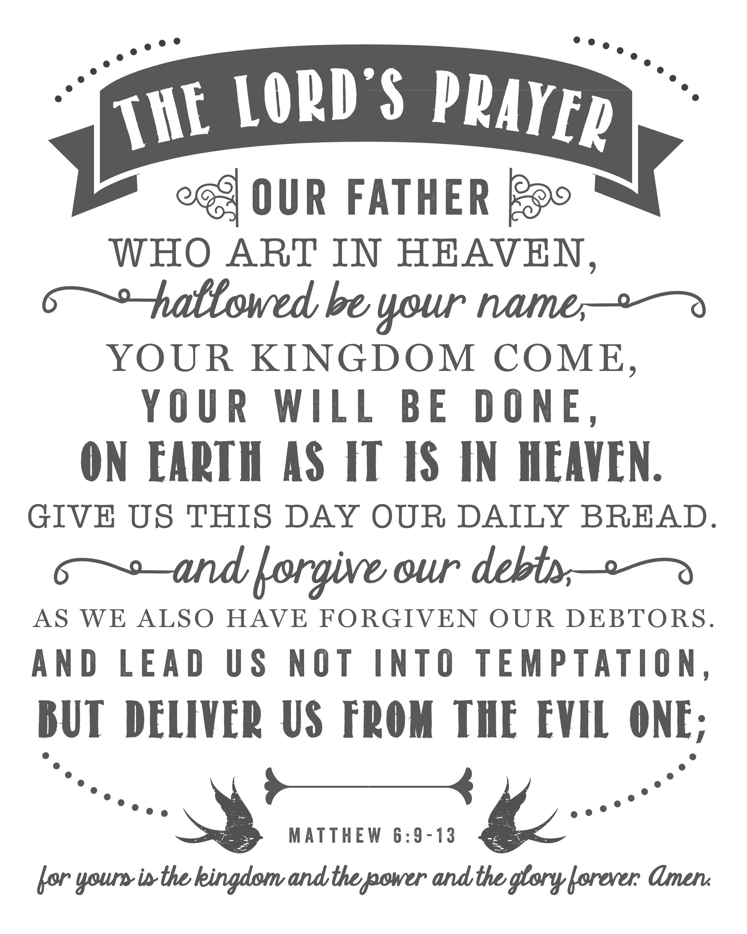 A Bigger Vision What The Lord S Prayer Hasn T Taught Us
