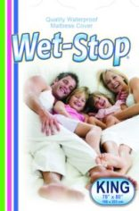 Wet-Detective Wet-Stop King Mattress Cover by PottyMD, white