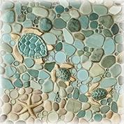 wet dog tile custom handmade tile