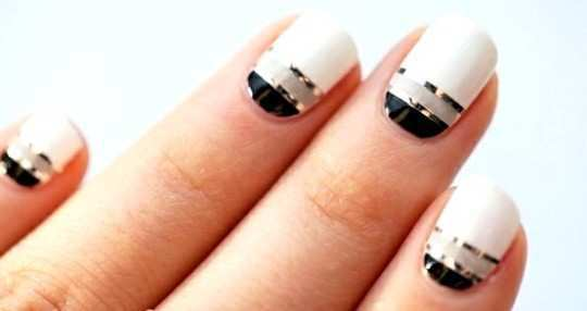 Easy Nail Designs With White Polish