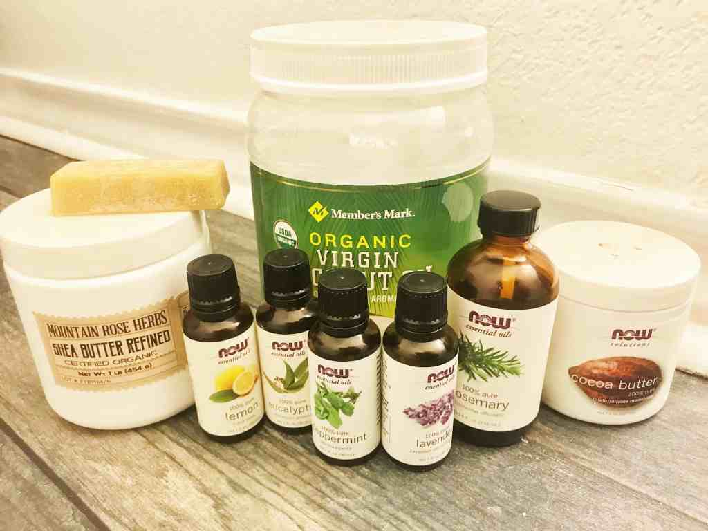 Make this easy, all natural homemade vapor rub to replace that store bought, full chemical brand. It helps relieve chest congestion, a stuffy nose, and coughing. | We Three Shanes
