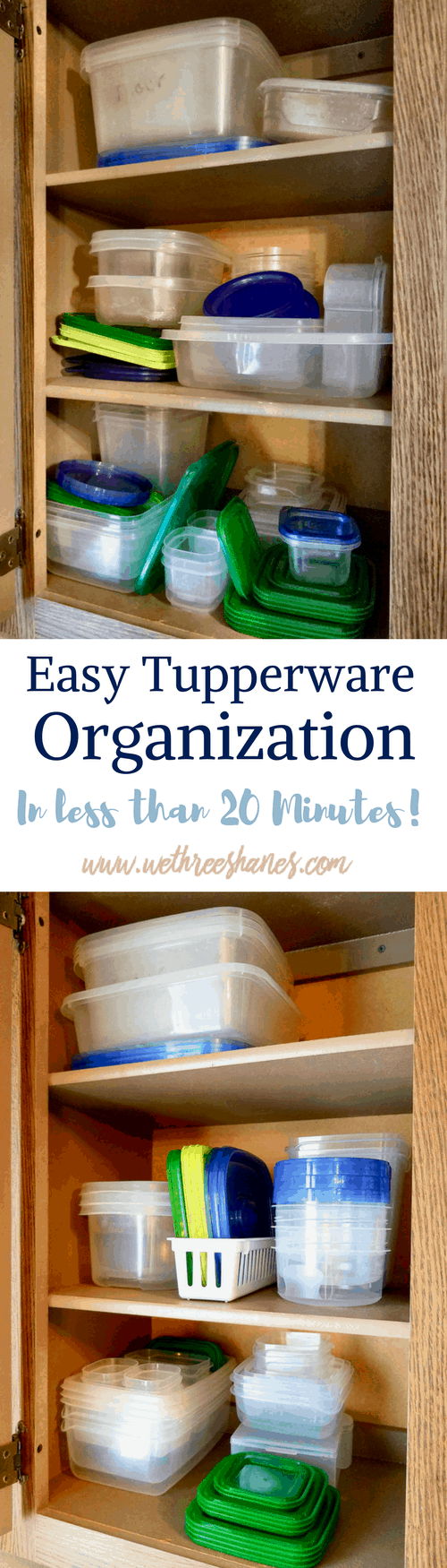 Easy Tupperware Organization | in Less Than 20 Minutes