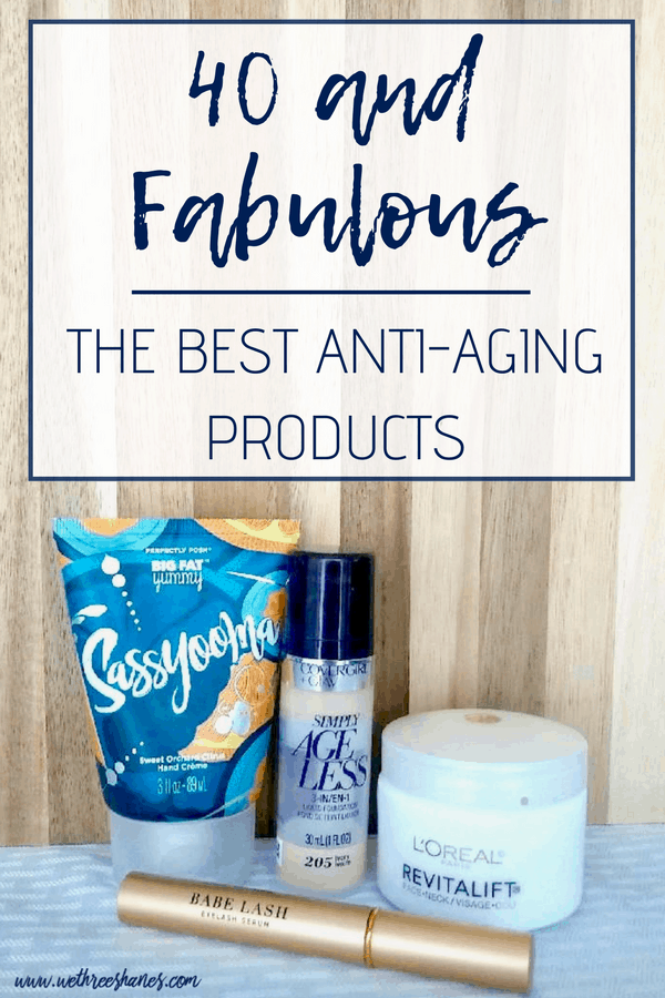 What? You're not 40! I am constantly being told I don't look my age. I've learned a lot about aging in these 40 years. With age comes wisdom but also wrinkles, age spots, and weaker eyelashes. Changes force new beauty routines and anti-aging products. I'm sharing my absolute must-have goodies that make a major difference in my appearance so keep on reading. | We Three Shanes