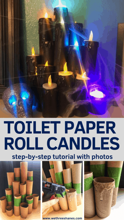 Now you can make your own Fake Halloween Toilet Paper Candles with this simple tutorial. It's cheap, easy and so much fun. In just a couple of steps you'll have your own creepy set. Create your own today!   We Three Shanes