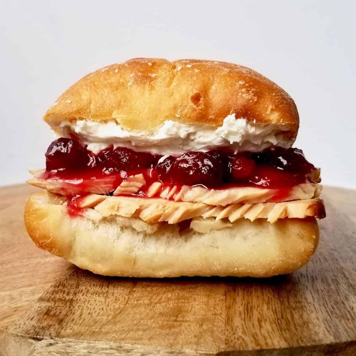 Killer Cranberry Cream Cheese Turkey Sandwich