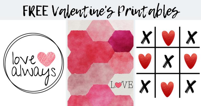 Free Printable Valentine's Day Wall Art