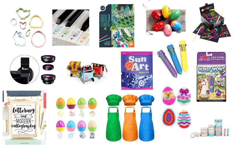 Candy in the Easter basket is a must but sugar overload isn't. If you're looking for some Non-Candy Easter Basket Ideas for your kids then you've come to the right place. We have over 450 fun and unique ideas that will have kids of all ages singing the Easter bunnies praises! | We Three Shanes