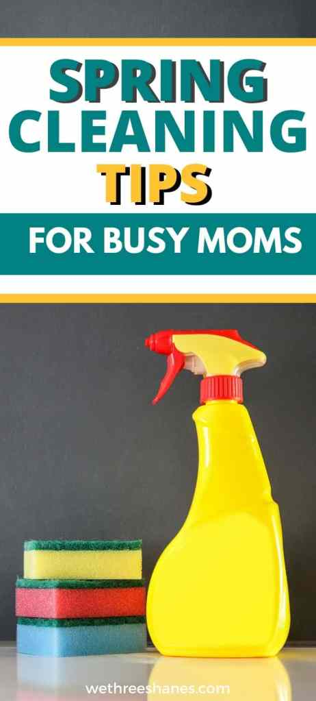 These no-fail spring cleaning tips for busy moms means you can deep clean your house with out all the fuss.  | We Three Shanes