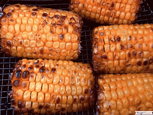 Easy Air Fryer Frozen Corn is super easy to make and tastes amazing! | We Three Shanes