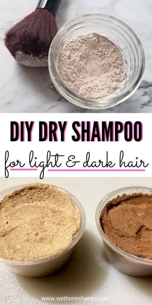 Next time you run out of dry shampoo, run to your pantry instead of the store. This all-natural DIY Dry Shampoo cost pennies to make & really works! | We Three Shanes