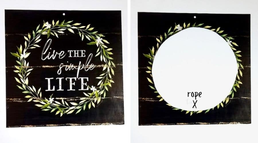 DIY Charger Plate Decor Tutorial. Showing how to use the circle template to cut the calendar pages so they fit correctly on the plate.