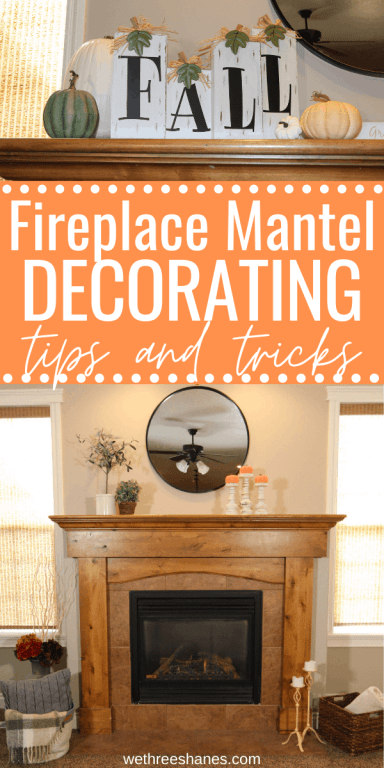 Did you know there are styling rules that people follow when decorating their fireplace? Once you know these tips and tricks you'll have a beautifully styled mantle that looks like it came straight out of a magazine! | We Three Shanes