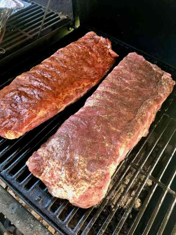 These savory Pumpkin Spice Ribs are the prefect fall dinner. Smoke them, grill them, or cook them in the oven, those pumpkin flavors always turn out absolutely delicious! | We Three Shanes
