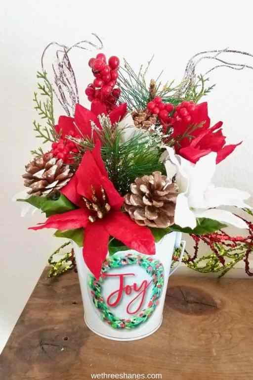 It's easier than you think to make your own Christmas floral arrangements. Customize the holiday decor while saving money!   We Three Shanes