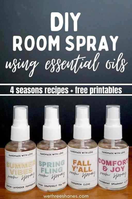 Learn how to make room spray three different ways using Vodka, which hazel or baking soda. Enjoy a wonderful smelling house year round with 6 room spray recipes.  | We Three Shanes