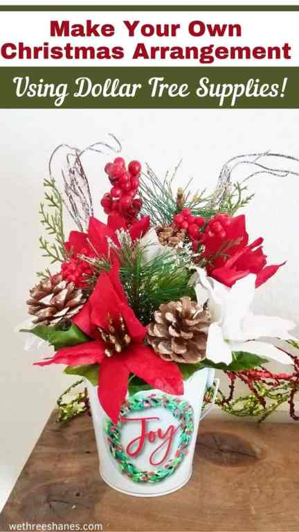 Learn how to make your own Christmas Floral Arrangements with this simple, step-by-step tutorial creating custom decor to match your home.