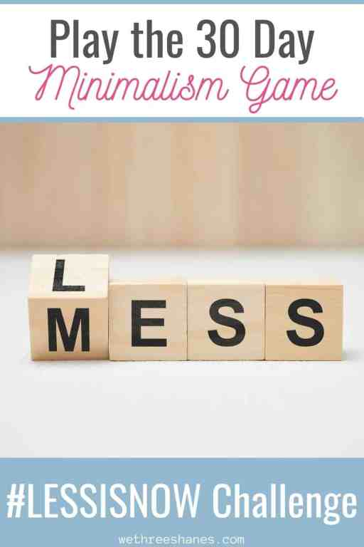Are you swimming in clutter but don't know where to start? The Less is More Challenge is perfect for you! Just click on over to see the rules of the game and our best tips on how to make it work for you. | We Three Shanes