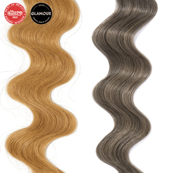 A screen shot from Overtone's site that shows how Vibrant Silver looks on level 7 hair.