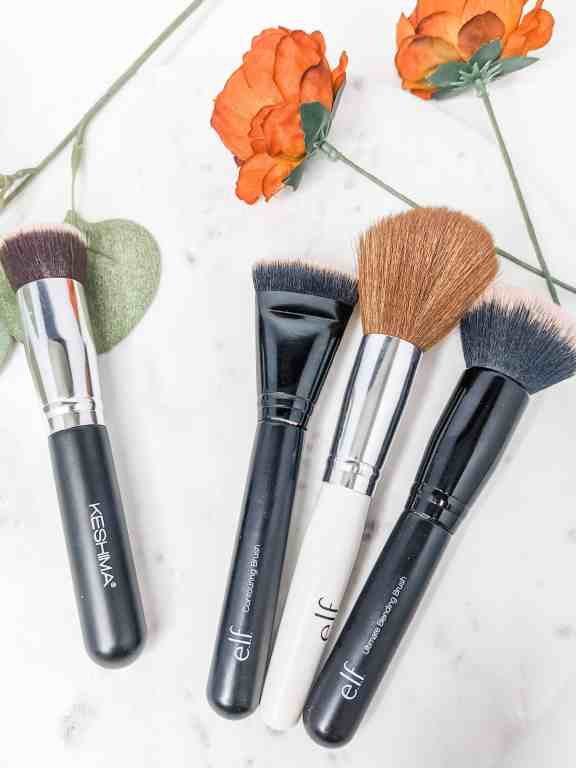 These three elf beauty brushes and my favorite Keshima brush are the very best makeup brushes at an affordable price.