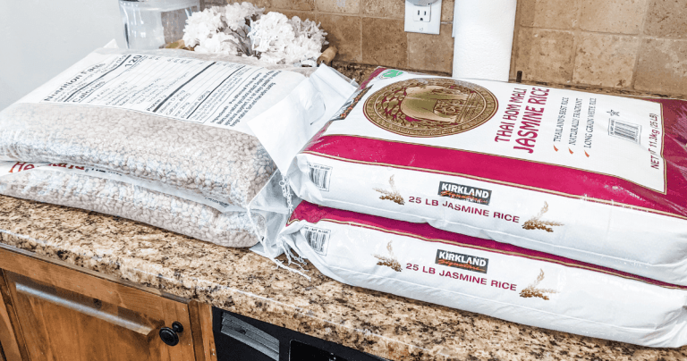 Jasmine rice and pinto beans purchased from Costco.