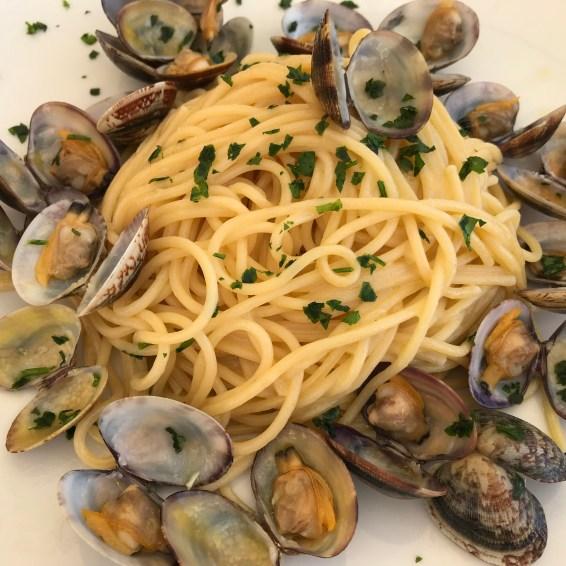 Un ottimo piatto di spaghetti con le vongole