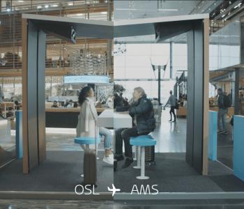 KLM lancia l'innovativo servizio 'Live Hologram Bar'