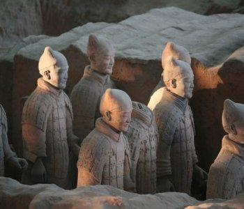 l'esercito di terracotta di Bingmayong in Cina