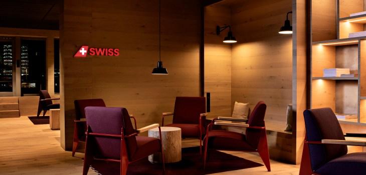 La nuova Alpine Lounge di SWISS all'aeroporto di Zurigo