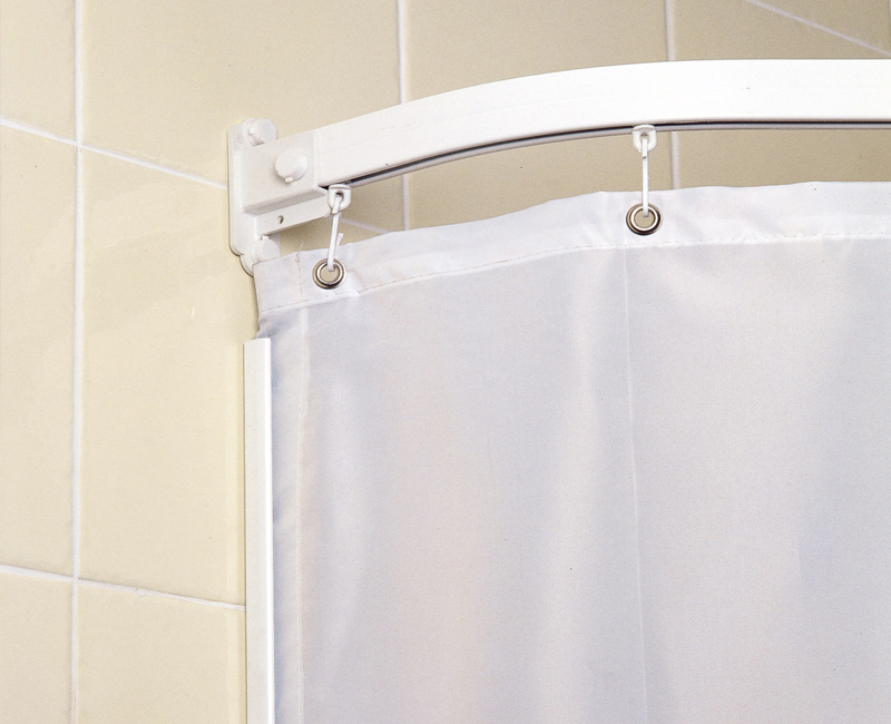 weighted shower curtains plain white contract