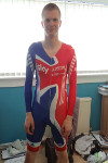 Gordon (Team GB Lycra cycling skinsuit| 19-05-2014)