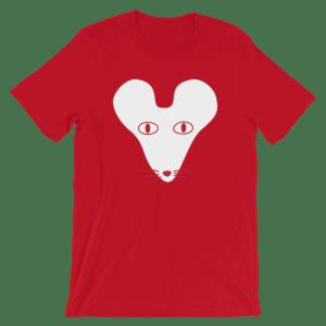 White Faced Rat Crew Neck S-Sleeve T-shirt