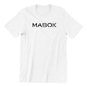 Mabok-white-short-sleeve-mens-teeshirt-singapore-kaobeiking-creative-print-fashion-store