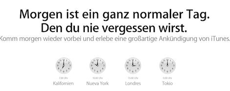 """""""Großartige Ankündigung in iTunes"""""""