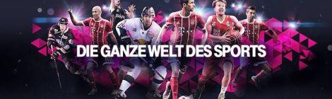 """Telekom präsentiert:  """"Telekom Sport mit Sky Sport  Kompakt - alle relevanten Top-Ligen live erleben"""""""