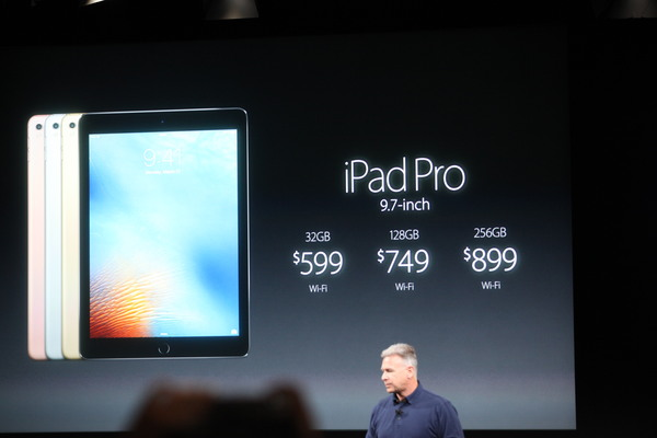 iPad Pro 9,7 pollici, versione da 32 Gb 599$