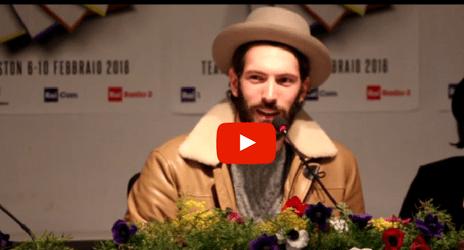 """[VIDEO] Sanremo 2018, Giovanni Caccamo: """"Sono follemente innamorato"""""""