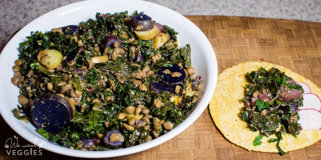 Hearty Kale Tacos With Lentils & Potatoes