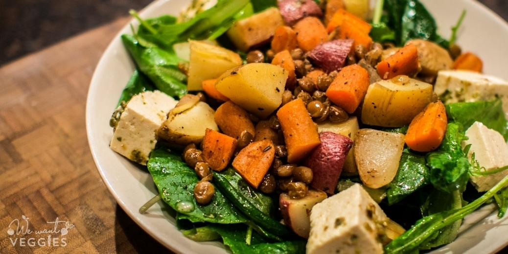 Roasted Root Vegetable Salad With Lentils