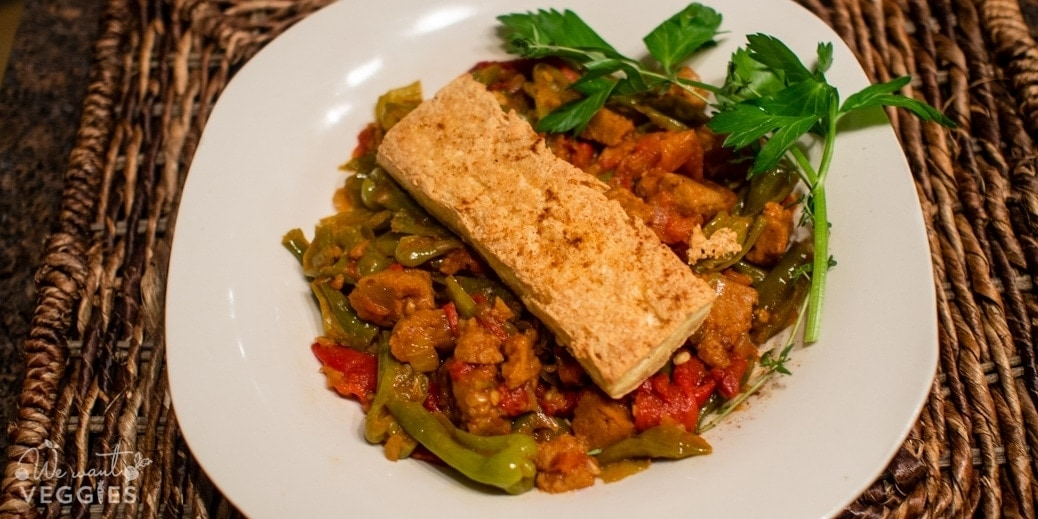 Basque Piperade With Tofu Steaks